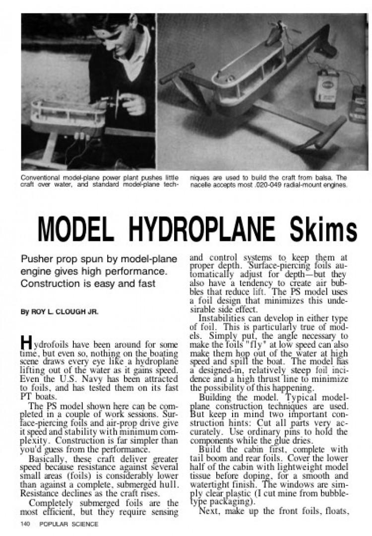 modelhydroplane model airplane plan