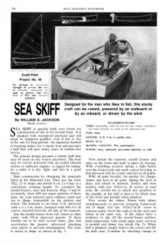 multi-skiff model airplane plan