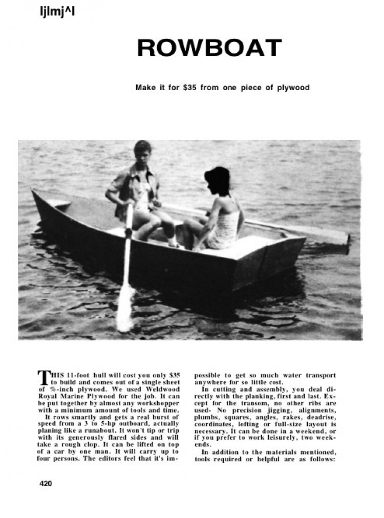 plywood-rowboat model airplane plan