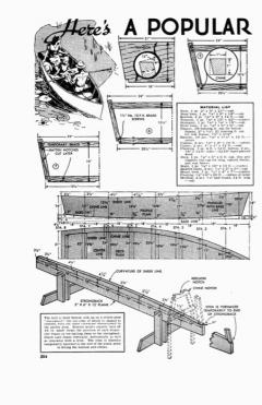 row-boat model airplane plan