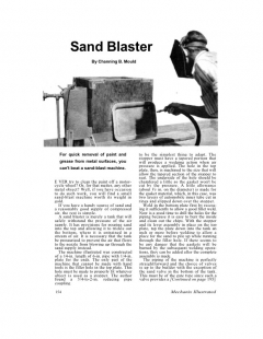 sandblaster model airplane plan