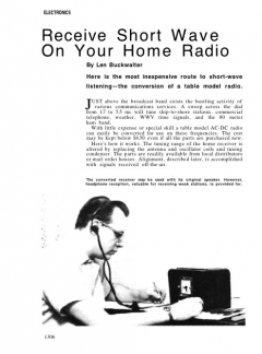 shortwave-radio model airplane plan