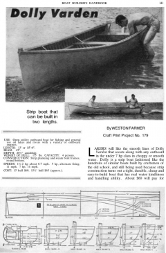 small-skiff model airplane plan