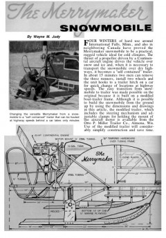 snowmobile model airplane plan