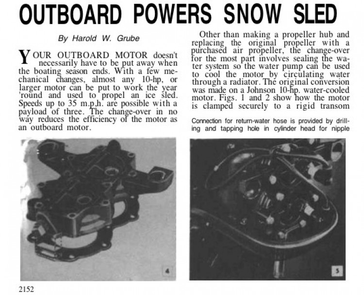 snowsled model airplane plan