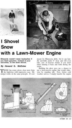snowthrower model airplane plan