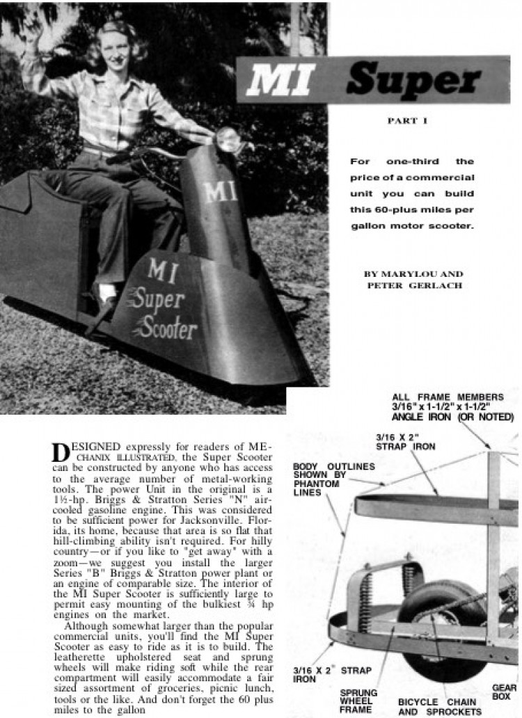 super-scooter model airplane plan