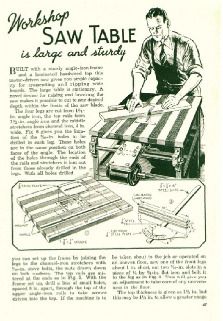 table-saw model airplane plan