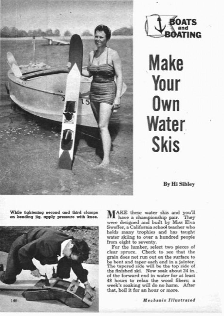 water-skis model airplane plan