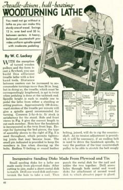 woodlathe-treadle model airplane plan