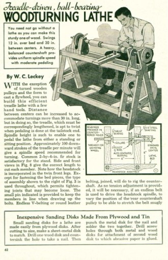 woodlathe-treadle model airplane plan