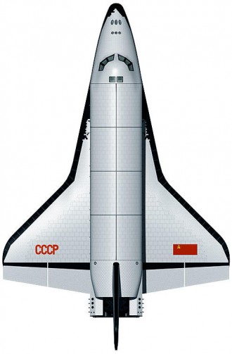 BURAN USSR model airplane plan