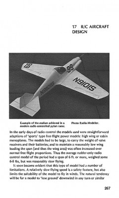 RC Aircraft Design model airplane plan