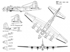 B 17 Flying Fortress Part 1 model airplane plan