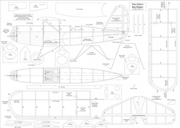 Big Dipper model airplane plan