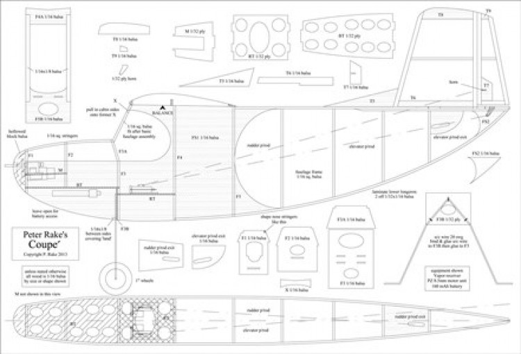 Coupe model airplane plan
