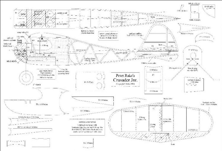 Crusader Jnr model airplane plan