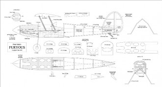 Furyous II model airplane plan