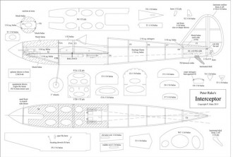 Interceptor model airplane plan