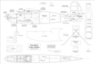 Little Achilles model airplane plan