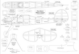 Mini Cruiser model airplane plan