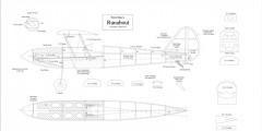 Runabout model airplane plan
