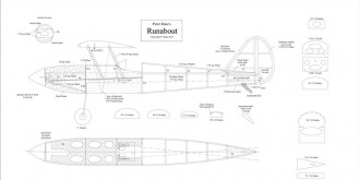 Runabout model airplane plan