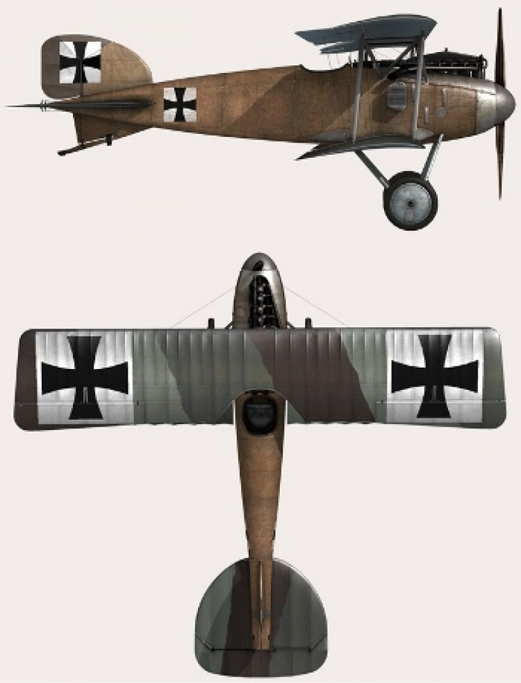 Albatros D11 model airplane plan