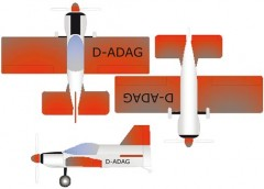 Bede BD-8 model airplane plan