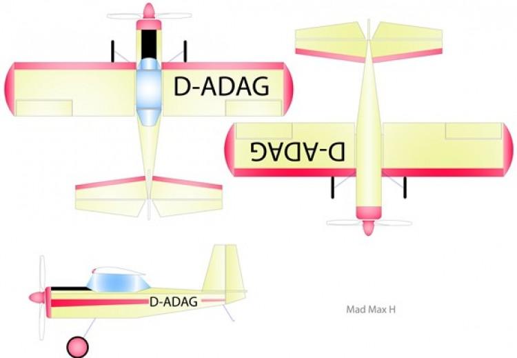 Mad Max H model airplane plan