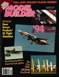 Model Builder 1995-02-FEB model airplane plan