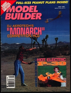 Model Builder 1995-05-MAY model airplane plan