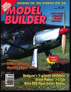 Model Builder 1995-07-JUL model airplane plan