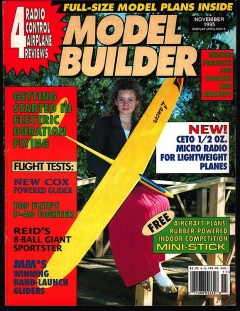Model Builder 1995-11-NOV model airplane plan