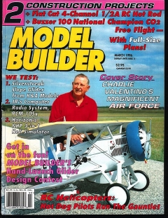 Model Builder 1996-03-MAR model airplane plan