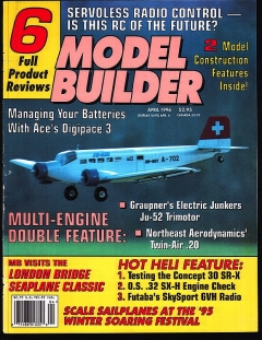 Model Builder 1996-04-APR model airplane plan