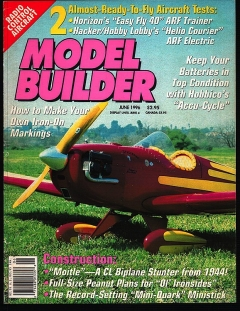 Model Builder 1996-06-JUN model airplane plan