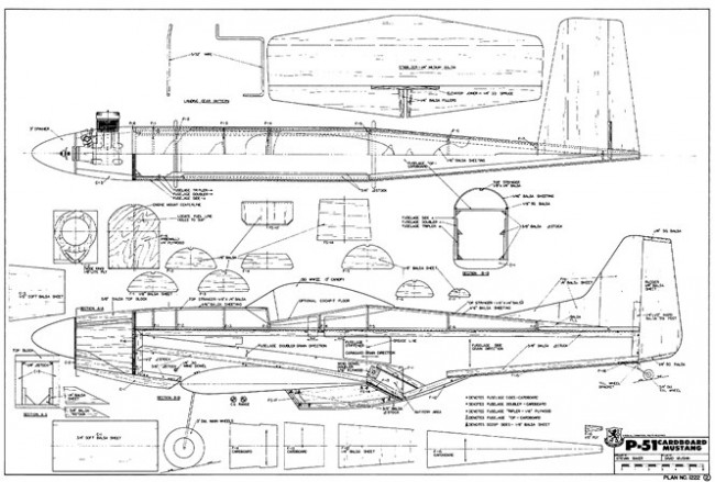 p51 plans aerofred download free model airplane plans