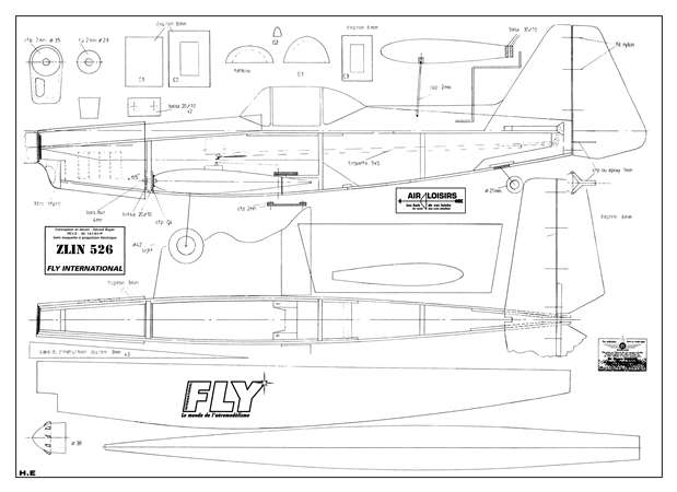 Zlin 526 Plans Aerofred Download Free Model Airplane Plans