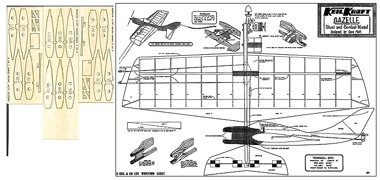 gazelle model airplane plan