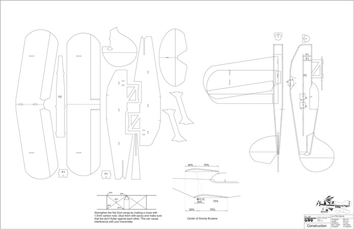 Pitts Special V3 model airplane plan