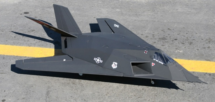 F-117A Stealth model airplane plan