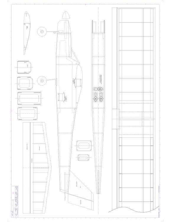 Falcon 25 model airplane plan