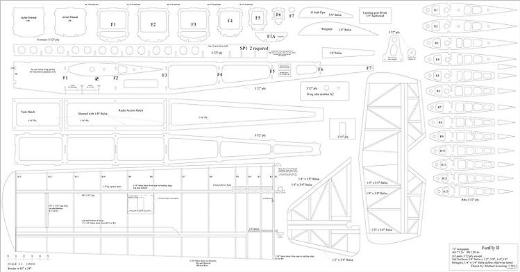 Fun Fly II model airplane plan