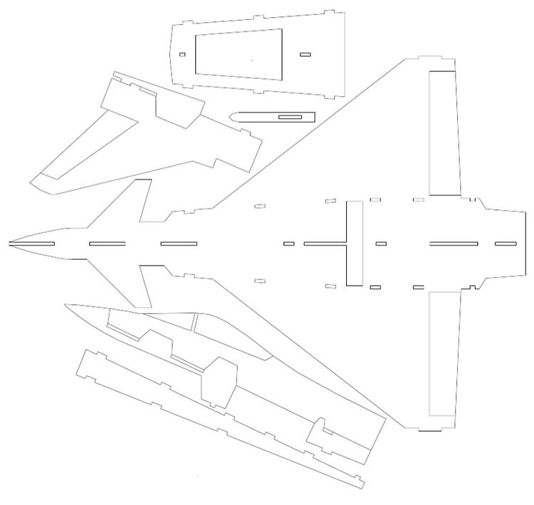 Eurofighter?? model airplane plan