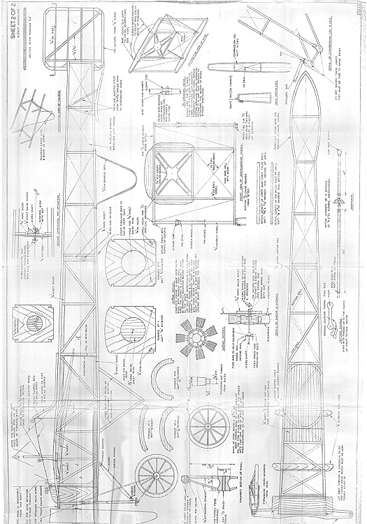 Bleriot Monoplane 2 Of 2 Plans - Aerofred