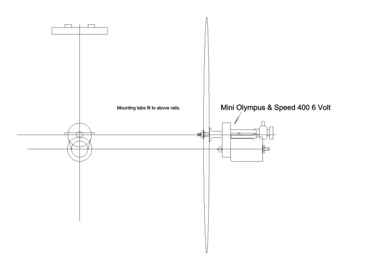sp400  Mini Olympus drive model airplane plan