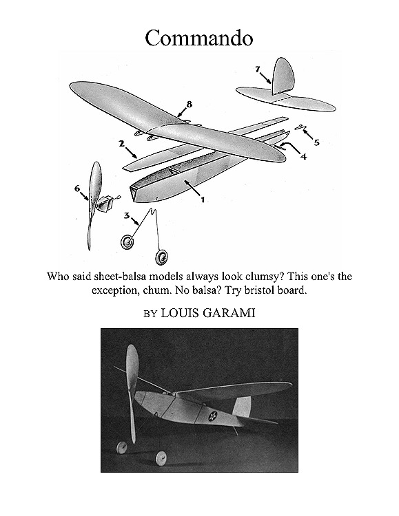 Commando model airplane plan
