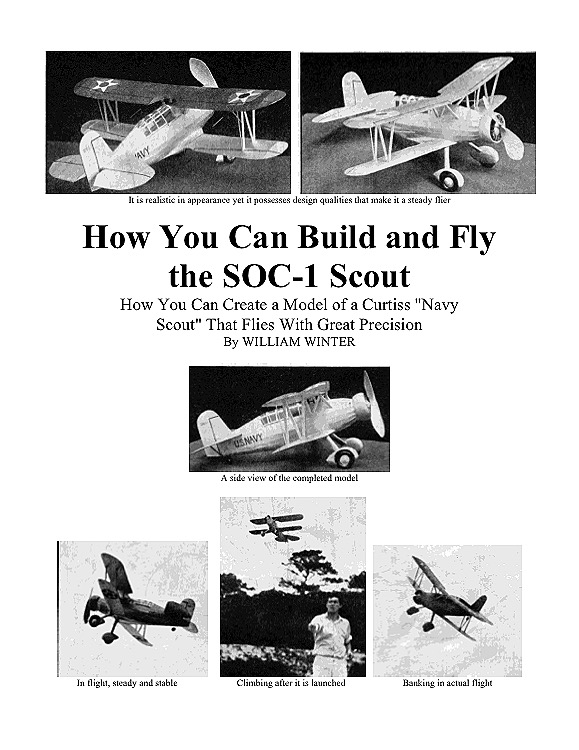 Curtiss SOC-1 Scout model airplane plan