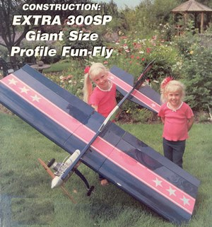Extra 300SP model airplane plan